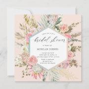 Elegant Blush Bohemian Floral Bridal Shower