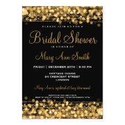 Elegant Bridal Shower Party Sparkles Gold