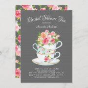 Elegant Bridal Shower Tea Invitation