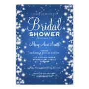 Elegant Bridal Shower Winter Sparkle Blue Invite