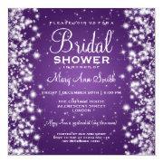 Elegant Bridal Shower Winter Sparkle Purple