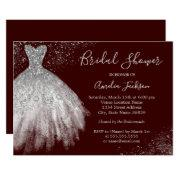 Elegant Burgundy Wedding Gown Bridal Shower