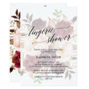 Elegant Calligraphy   Faded Floral Lingerie Shower
