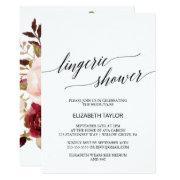 Elegant Calligraphy | Floral Back Lingerie Shower
