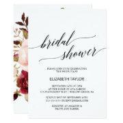 Elegant Calligraphy | Floral Backing Bridal Shower