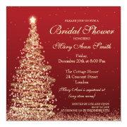 Elegant Christmas Bridal Shower Red Gold