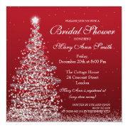 Elegant Christmas Bridal Shower Red Silver