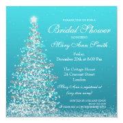 Elegant Christmas Bridal Shower Turquoise