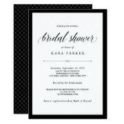 Elegant Couture | Black And White Bridal Shower
