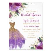 Elegant Glitter Amethyst Dress Bridal Shower