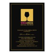 Elegant Gold Black Wine Bridal Shower