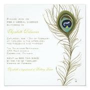 Elegant Peacock Feather Bridal Shower
