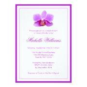Elegant Purple Orchid Bridal Shower