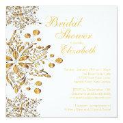 Elegant Snowflakes Winter Bridal Shower Invite