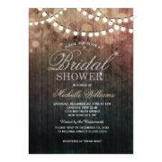 Elegant String Lights Brown Bokeh Bridal Shower