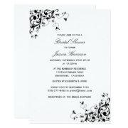 Elegant Swirls Black & White Bridal Shower