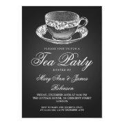 Elegant Tea Party Vintage Tea Cup Black