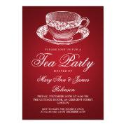 Elegant Tea Party Vintage Tea Cup Red