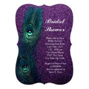 Elegant Teal Blue And Purple Peacock Bridal Shower