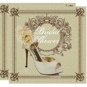 Elegant Vintage Stiletto Bridal Shower