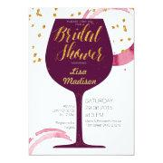 Elegant Wine Bridal Shower