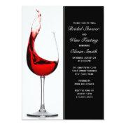 Wine Themed Bridal Shower Invitations | FunBridalShowerInvitations