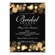 Elegant Winter Bridal Shower Gold Lights