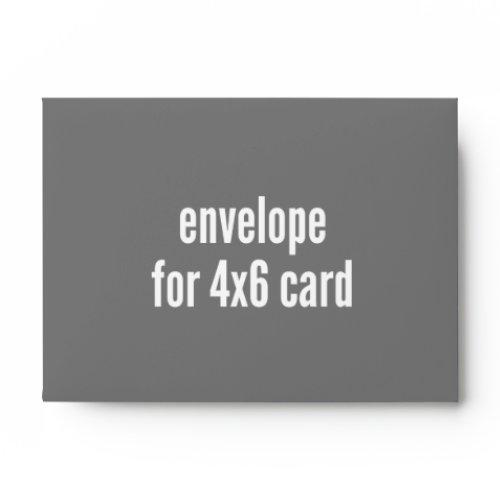 Envelope 4x6 Front/back Fill
