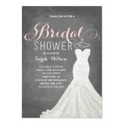 Extravagant Dress Chalkboard | Bridal Shower Invitation