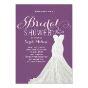 Extravagant Dress Custom Color | Bridal Shower Invitation