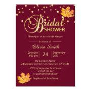 Fall Autumn Burgundy Marsala Bridal Shower