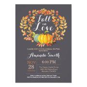 Fall Bridal Shower Invitation  Gray