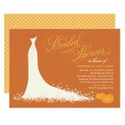 Fall Bridal Shower | Wedding Gown With Pumpkins
