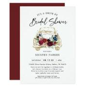 Fall Burgundy Drive By Bridal Shower Invitation