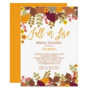 Fall In Lov Autumn Leaves Bridal Shower