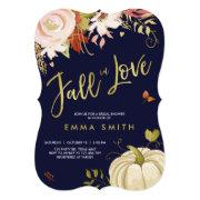 Fall In Love Bridal Shower Invitations Bridal Autumn