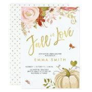 Fall In Love Bridal Shower Invitation Bridal Autumn