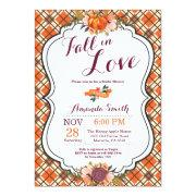 Fall In Love Bridal Shower Invitation