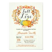 Fall In Love Bridal Shower Invitationss