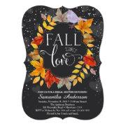 Fall In Love Bridal Shower Invite, Fall Wedding