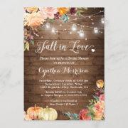 Autumn Pumpkin Bridal Shower Signage Fall in Love Bridal Shower Welcome Sign Rustic Fall Bridal Shower Decor Pumpkin Party Signs