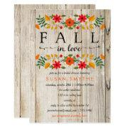 Fall In Love Rustic Shower