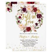 Fall In Love Shower Invitations