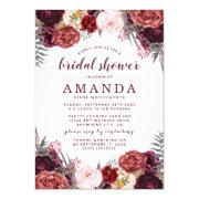 Fall Marsala Blush Peony Bridal Shower