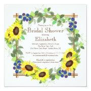 Fall Sunflowers Floral Bridal Shower