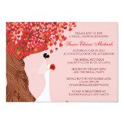 Falling Hearts Oak Tree Fall Bridal Shower