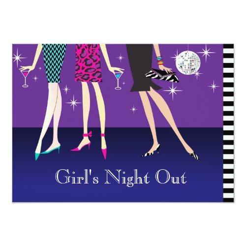 Fashion Party Girls Night Out Invitations