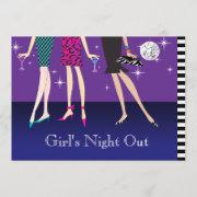 Fashion Party Girls Night Out Invitation