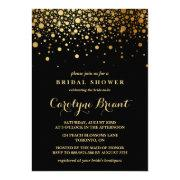 Faux Gold Foil Confetti | Black Bridal Shower
