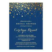 Faux Gold Foil Confetti | Navy Bridal Shower
